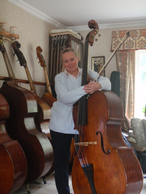 Jane with double bass