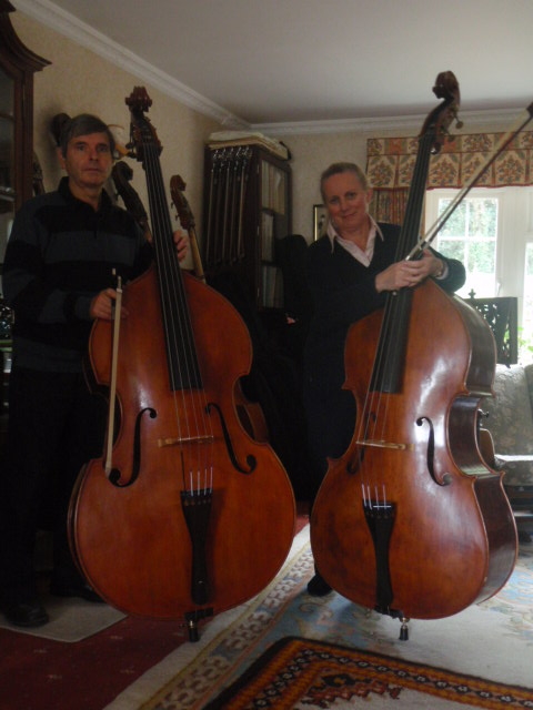 Jane and Malcolm with double bass